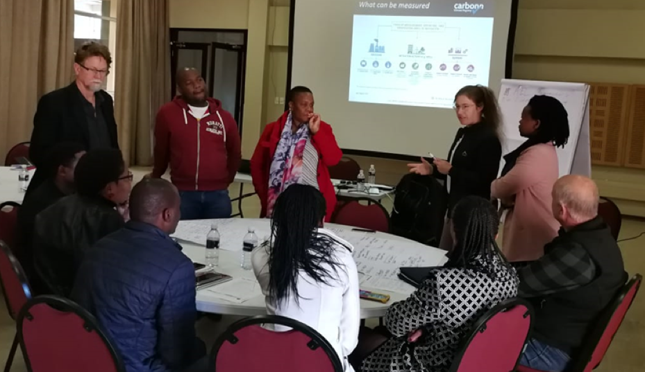 Government officials engaged in key discussions during the mapping session facilitated by ICLEI Africa and  Sustainable Energy Africa.